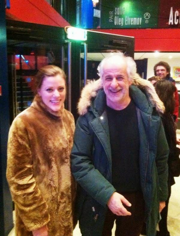 Actress Umberta Gentile with actor Toni Servillo, in Paris